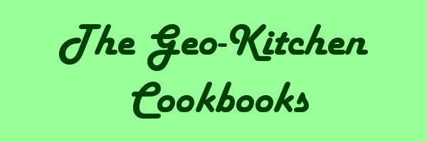 Geo Kitchen Cookbooks